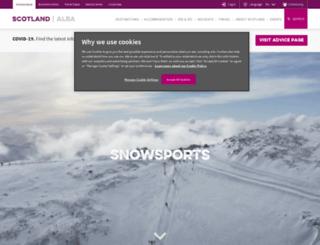 ski.visitscotland.com screenshot
