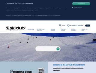 skiclub.co.uk screenshot