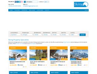 skiingproperty.com screenshot