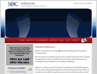skillsdotcom.net screenshot