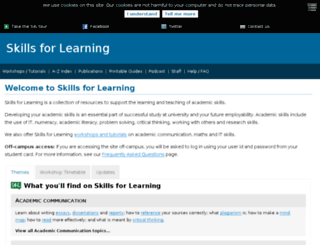 skillsforlearning.leedsmet.ac.uk screenshot