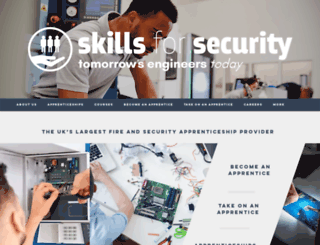 skillsforsecurity.org.uk screenshot