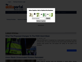 skillsportal.co.za screenshot