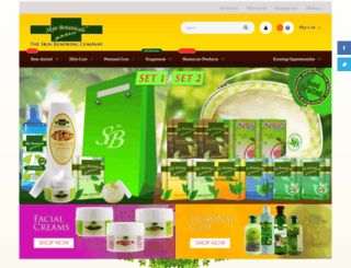 skinbotanicals.net screenshot