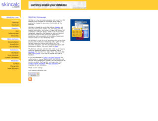 skincalc.com screenshot