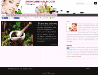 skincare-help.com screenshot