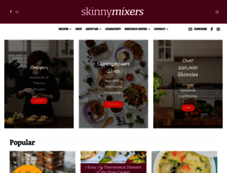 skinnymixers.com.au screenshot