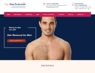 skinperfectionspa.ca screenshot