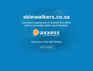 skinwalkers.co.za screenshot