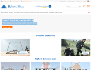 skiwebshop.com screenshot