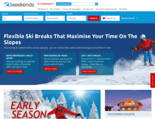skiweekends.co.uk screenshot