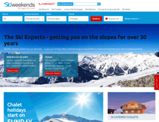 skiweekends.com screenshot