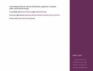 sklar.com screenshot