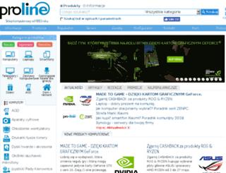 sklep.proline.pl screenshot