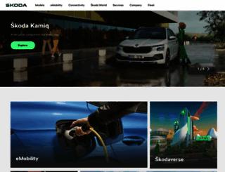 skoda-auto.com screenshot