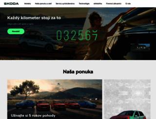skoda-auto.sk screenshot