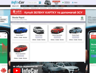 skoda-rapid.infocar.ua screenshot