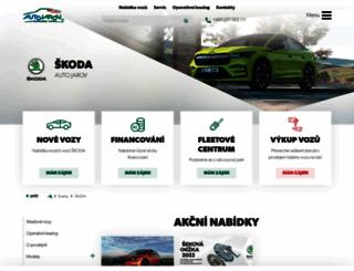 skoda.autojarov.cz screenshot