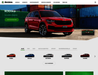 skoda.ch screenshot