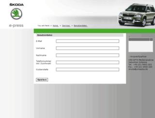 skoda.e-press-unicepta.de screenshot