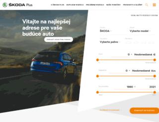 skodaplus.sk screenshot