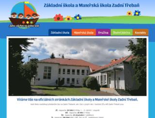 skola-zadnitreban.cz screenshot