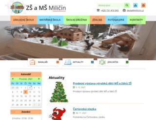 skolamilicin.cz screenshot