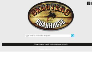 skootersroadhouse.wantickets.com screenshot