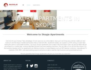 skopjeapartments.com screenshot