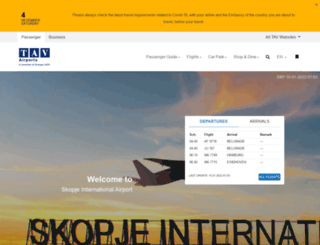 skp.airports.com.mk screenshot