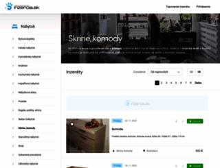 skrine-komody.inzercia.sk screenshot