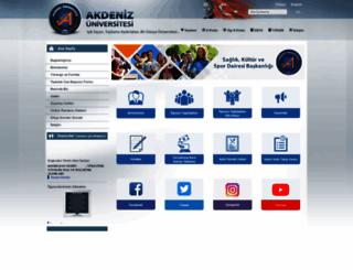sks.akdeniz.edu.tr screenshot