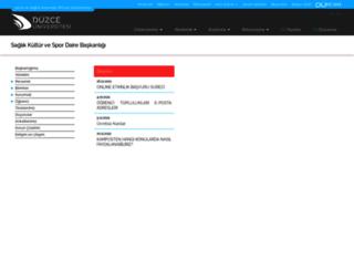 sks.duzce.edu.tr screenshot