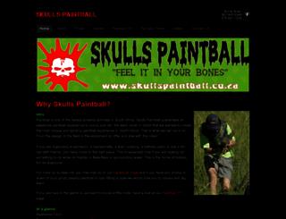 skullspaintball.co.za screenshot