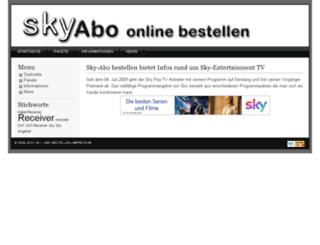 sky-abo-bestellen.de screenshot