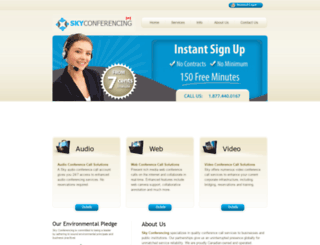 sky-conferencing.ca screenshot