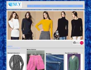 skyapparels.com screenshot