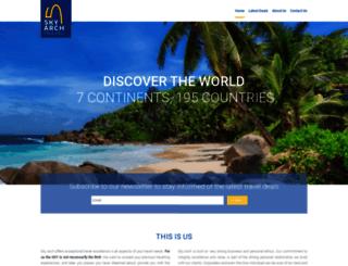 skyarchtravel.com screenshot