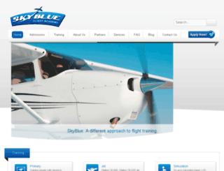 skyblueflightacademy.com screenshot