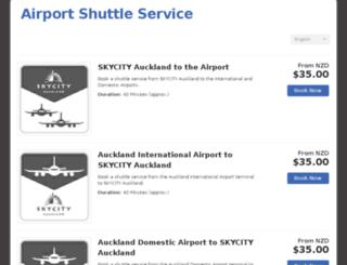 skycityairportshuttle.rezdy.com screenshot