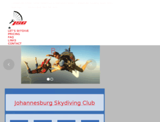 skydivejoburg.co.za screenshot