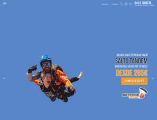 skydivemadrid.es screenshot