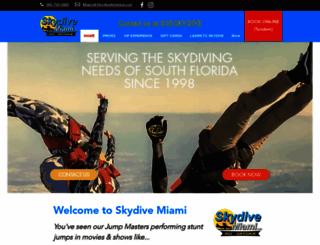 skydivemiami.com screenshot
