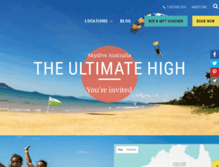 skydivethebeach.com screenshot