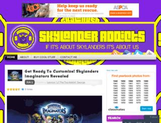 skylanderaddictsblog.com screenshot