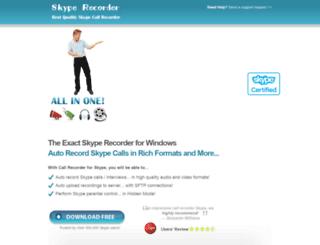 skype-record.com screenshot