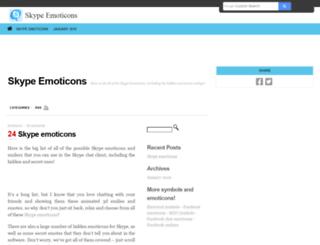 skypeemoticons.net screenshot