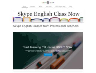 skypeenglishclassnow.com screenshot