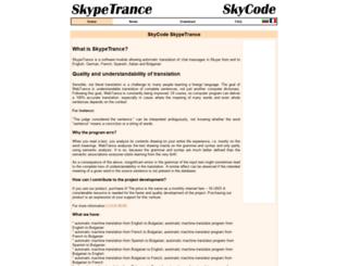 skypetrance.skycode.com screenshot