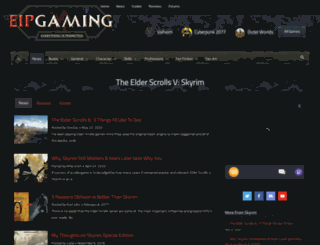 skyrimfansite.com screenshot